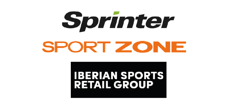 Logotipos da Sprinter, Sport Zone e Iberian Sports Retail Group